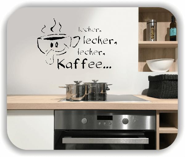Wandtattoos Spruch Küche - lecker, lecker, lecker Kaffee...