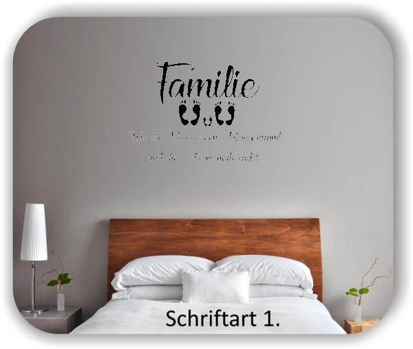 Wandtattoos - Sprüche & Zitate - Familie - Wo das Leben seinen...