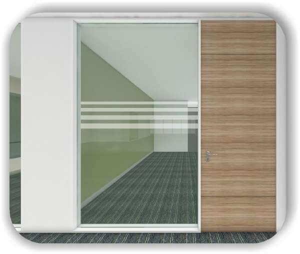 Sichtschutzfolie / Durchlaufschutzfolie - Zuschnitt 30 cm Höhe - 4 Vertikale Streifen