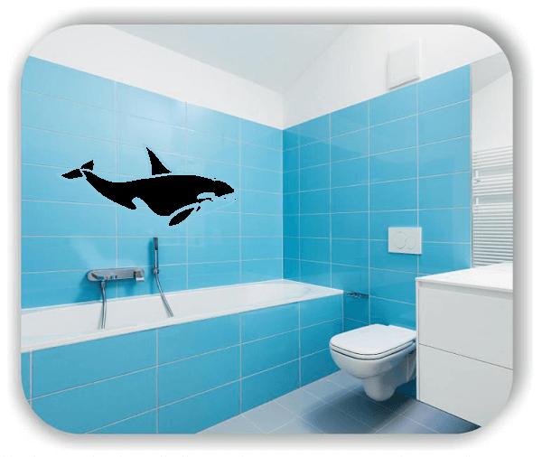 Wandtattoos Tiere - ab 50x34 cm - Orca
