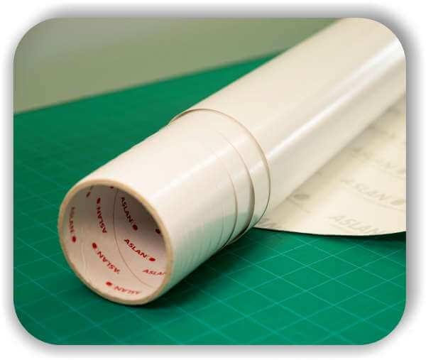 Aslan Whiteboard Folie - Matt - Selbstklebend - Rollenbreite 137 cm
