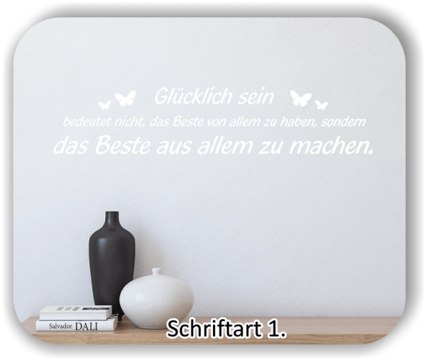 Wandtattoos - Sprüche & Zitate - Glücklich sein bedeutet nicht...