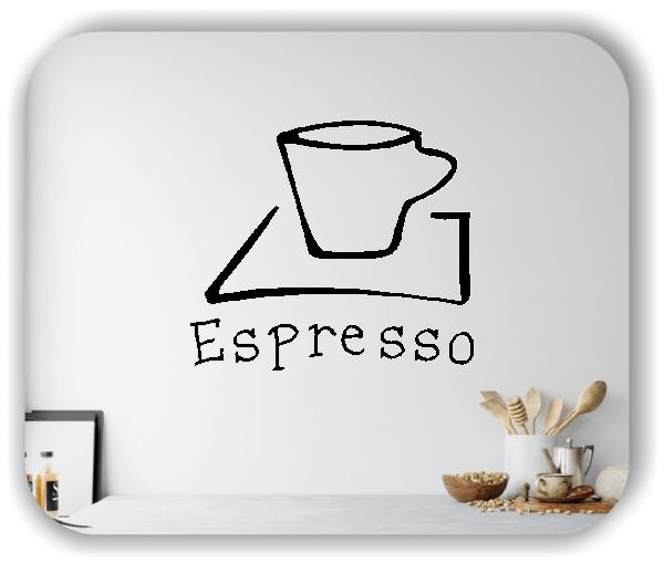 Wandtattoos Spruch Küche - Espresso