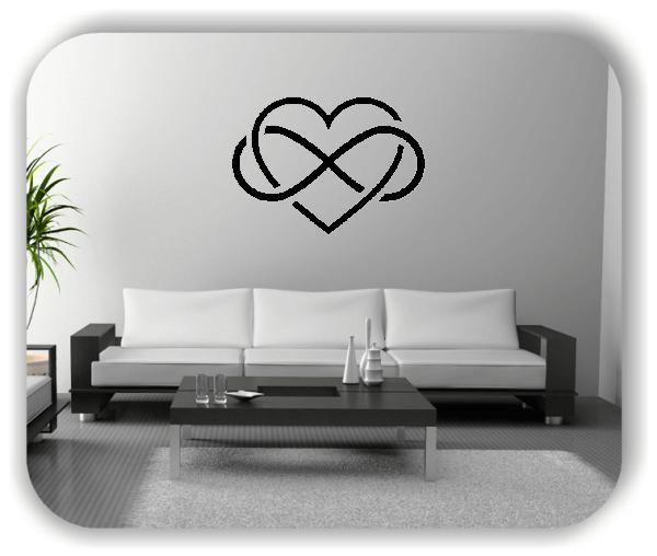 Wandtattoos Liebe - Endlossymbol mit Herz