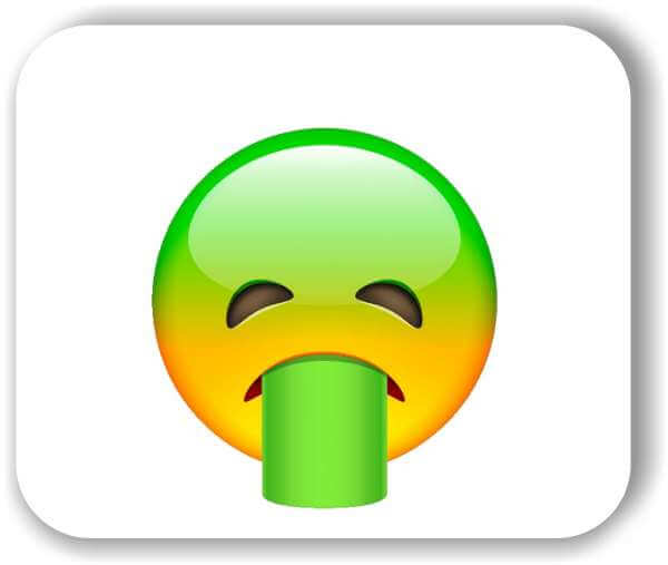 Strichgesicht - Emoticon - Übergebendes Gesicht