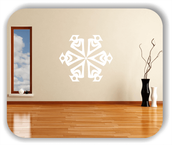 Snowflakes Wandtattoos - Schneeflocke - ab 50x43 cm - Motiv 2578