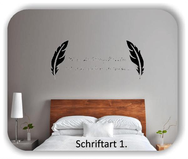 Wandtattoos - Sprüche & Zitate - Mein Lieblingskissen ist das neben deinem...