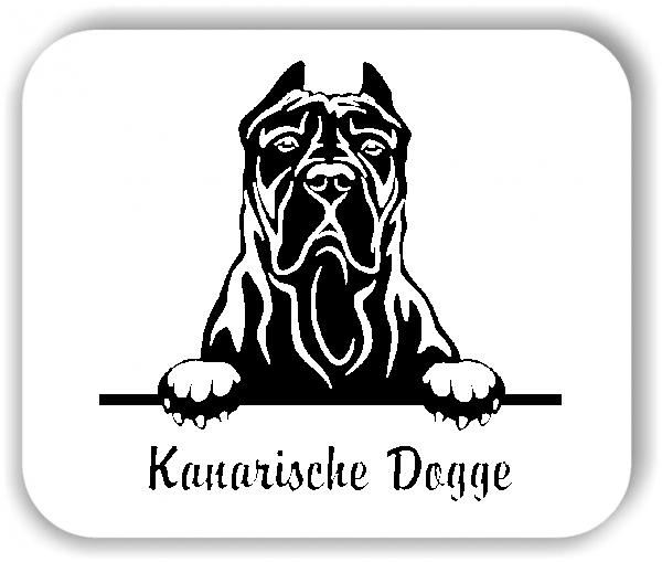 Wandtattoos Tiere - Hunde - Kanarische Dogge Variante 1