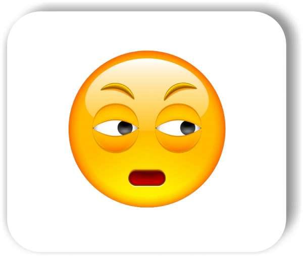 Strichgesicht - Emoticon - Zwei Augen schauen nach links