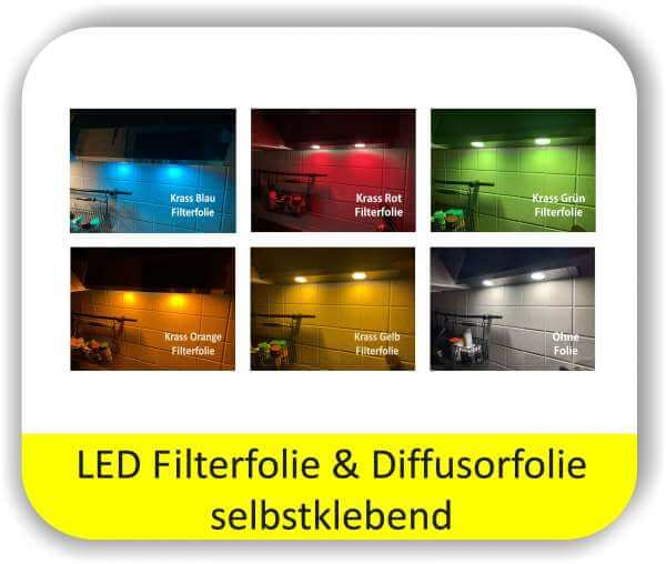 LED Warmlichtfolie Potpourri Krasse Farben - LED Licht ändern