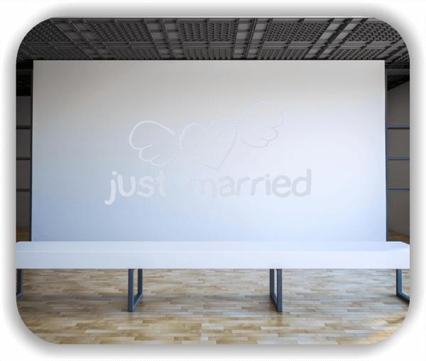 Wandtattoos Schlafzimmer - just married