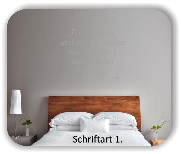Wandtattoos - Sprüche & Zitate - Früh ins Bett und früh aufstehen...