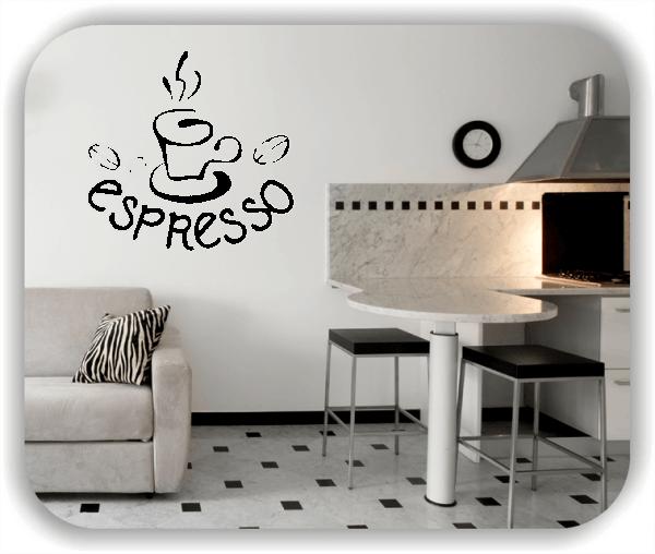 Wandtattoos Spruch Küche – Espresso