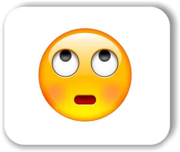 Strichgesicht - Emoticon - Augen rollendes Gesicht