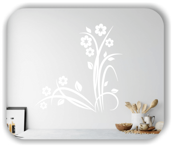 Florale Wandtattoos Japan Motiv - ab 60x60 cm - Motiv 3218