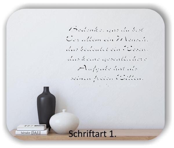 Wandtattoos - Sprüche & Zitate - Bedenke, was du bist...