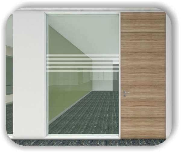 Sichtschutzfolie / Durchlaufschutzfolie - Zuschnitt 30 cm Höhe - 5 Vertikale Streifen