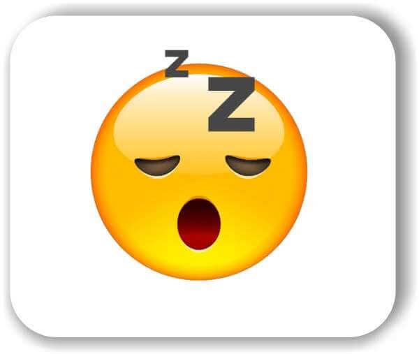 Strichgesicht - Emoticon - Schlafendes (müdes) Gesicht