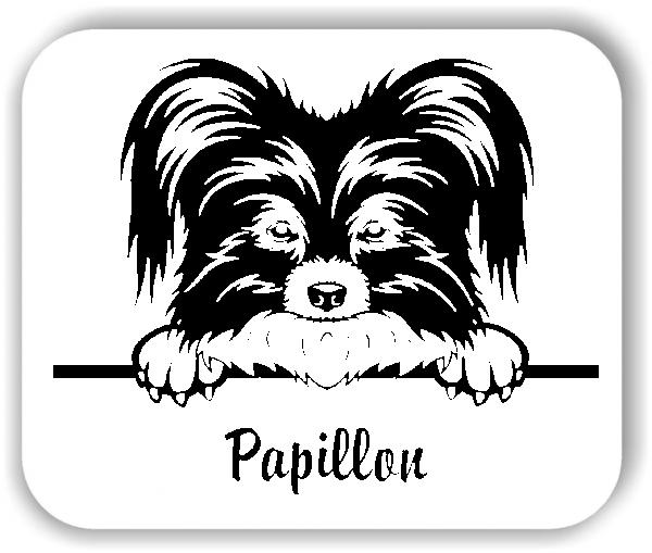 Wandtattoos Tiere - Hunde - Papillon