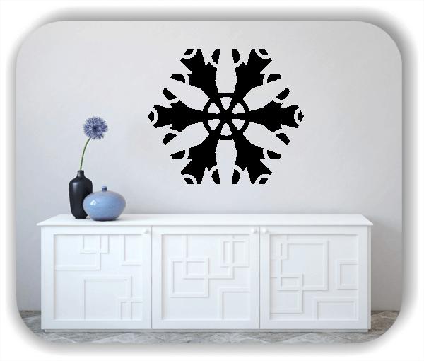 Snowflakes Wandtattoos - Schneeflocke - ab 50x43 cm - Motiv 2585