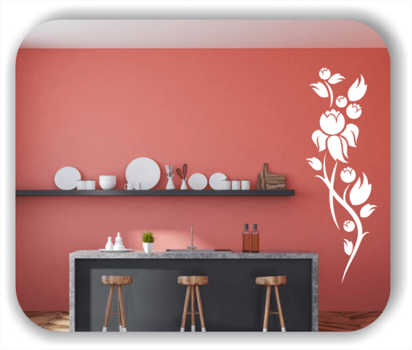 Ornamente China Floral - Wandtattoo - ab 50x150 cm - Motiv 3195