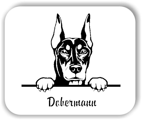 Wandtattoos Tiere - Hunde - Dobermann Variante 1