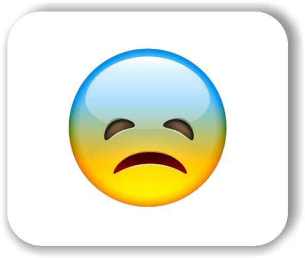 Strichgesicht - Emoticon - Ängstliches Gesicht