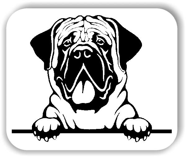 Wandtattoos Tiere - Hunde - Mastiff - ohne Rassename
