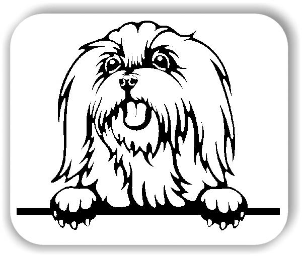 Wandtattoos Tiere - Hunde - Malteser 2 - ohne Rassename