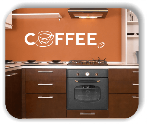 Wandtattoos Spruch Küche - Coffee - mit Kaffeetasse