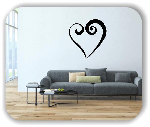 Wandtattoos Liebe - Offenes Herz