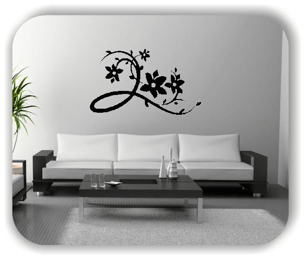 Ornamente China Floral - Wandtattoo - ab 50x30 cm - Motiv 3122