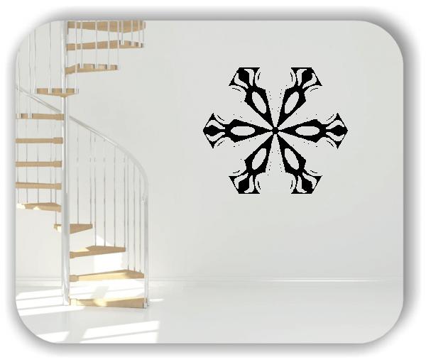 Snowflakes Wandtattoos - Schneeflocke - ab 50x43 cm - Motiv 2582