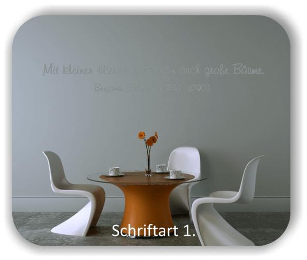 Wandtattoos - Sprüche & Zitate - Mit kleinen Hieben...