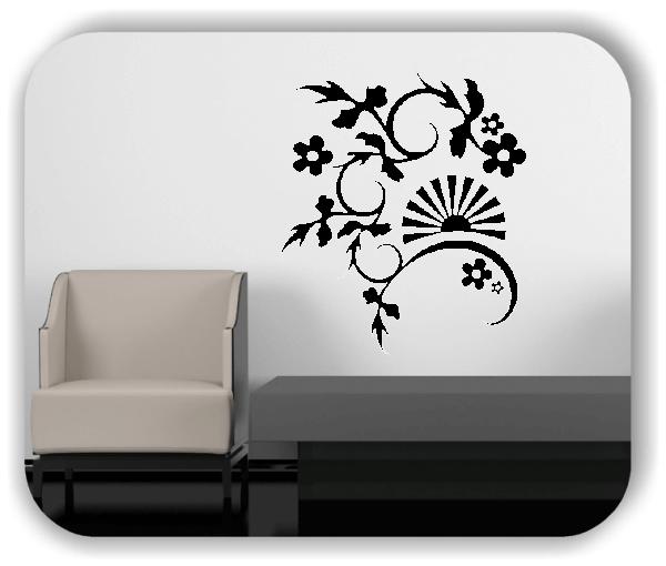 Ornamente China Floral - Wandtattoo - ab 50x60 cm - Motiv 3170