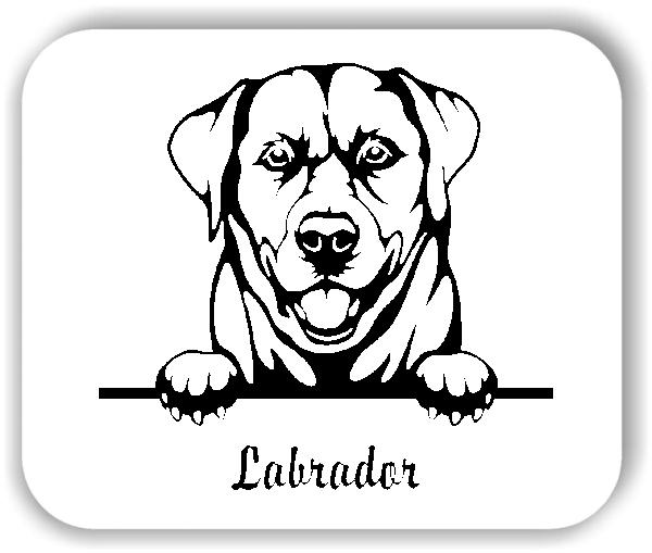 Wandtattoos Tiere - Hunde - Labrador Retriever Variante 2