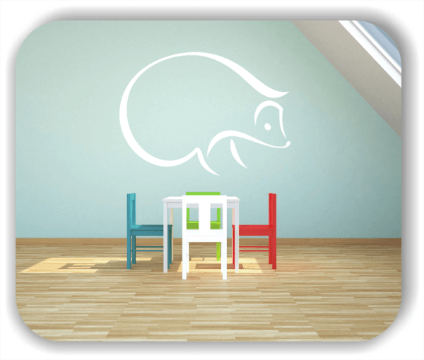 Wandtattoos Tiere - ab 50x36 cm - Igel
