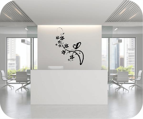 Ornamente China Floral - Wandtattoo - ab 50x60 cm - Motiv 3171
