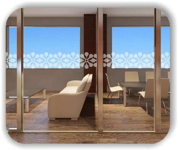 Sichtschutzfolie / Durchlaufschutzfolie - Zuschnitt 30 cm Höhe - Blumen Ornamente