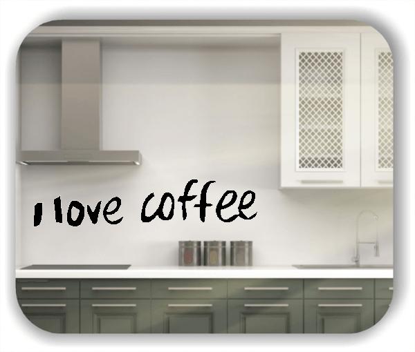 Wandtattoos Spruch Küche - I love coffee