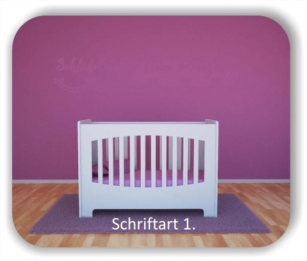 Wandtattoos - Sprüche & Zitate - Schlafplatz für kleine Prinzessinnen