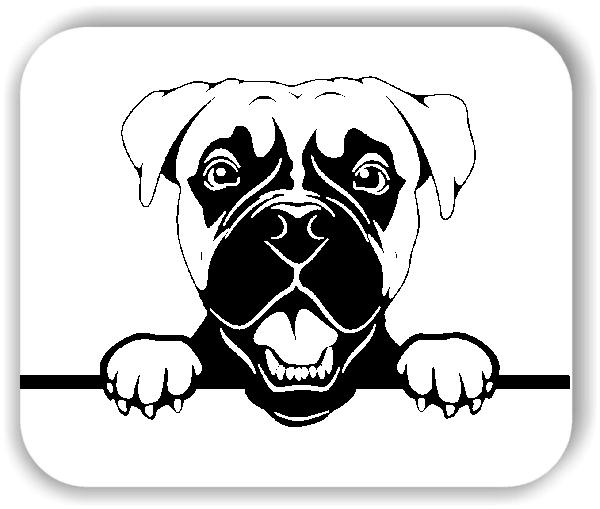 Wandtattoos Tiere - Hunde - Boxer Variante 4 - ohne Rassename
