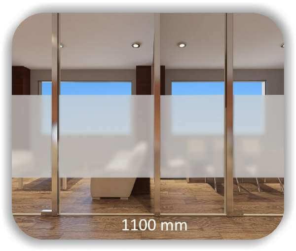 Milchige Sichtschutzfolie / Durchlaufschutzfolie - Höhe: 110 cm - Streifen