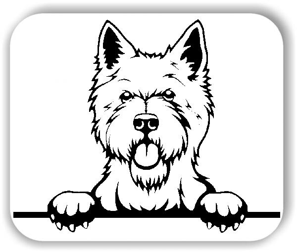 Wandtattoos Tiere - Hunde - West Highland Terrier - ohne Rassename