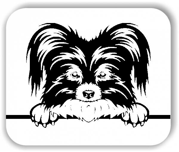 Wandtattoos Tiere - Hunde - Papillon - ohne Rassename