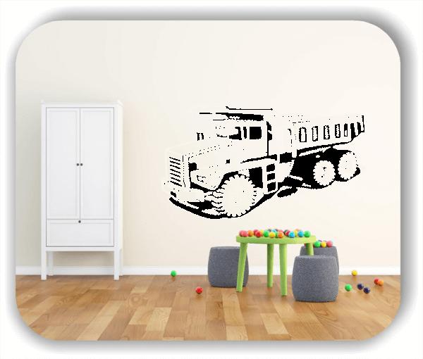 Wandtattoos Fahrzeuge - ab 50x28 cm - LKW Kipper