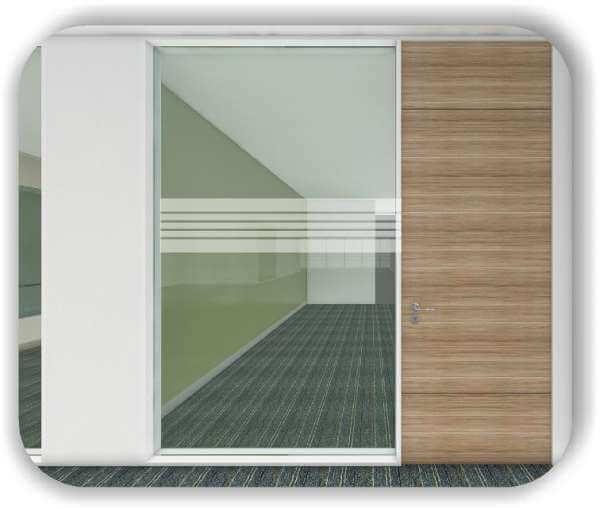 Sichtschutzfolie / Durchlaufschutzfolie - Zuschnitt 30 cm Höhe - 2 Große Streifen - 3 kleine Streifen