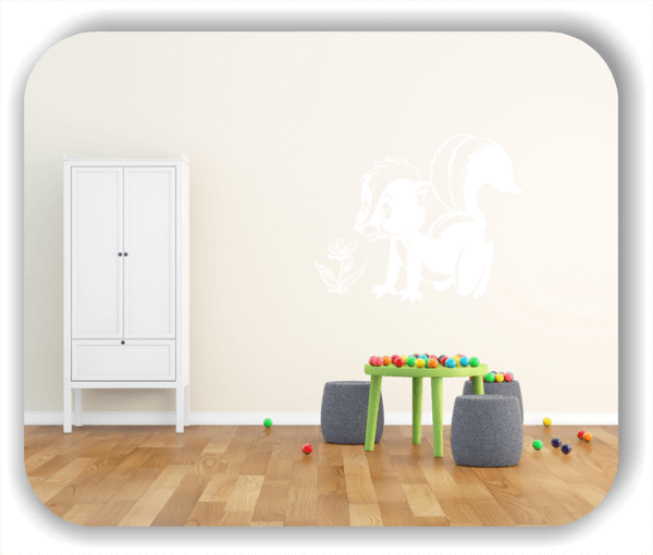 Wandtattoos Tiere - Süßes Stinktier (Skunk)