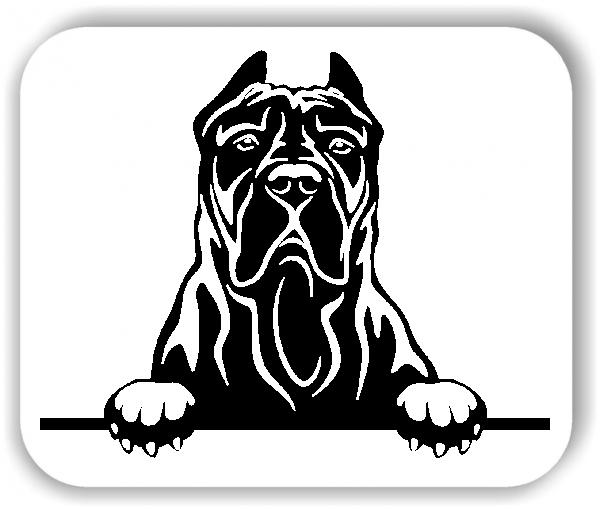 Wandtattoos Tiere - Hunde - Kanarische Dogge Variante 3 - ohne Rassename
