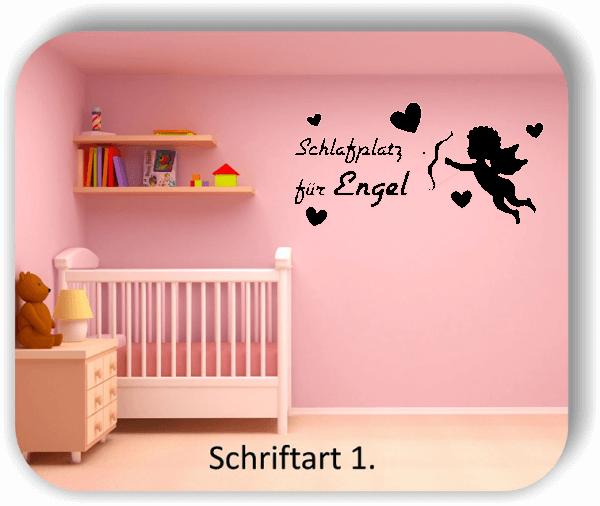 Wandtattoos - Sprüche & Zitate - Schlafplatz für Engel